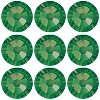 Swarovski 2028 Hot Fix Flatback Rhinestones SS12 Palace Green Opal (144 Pieces) - CLEARANCE
